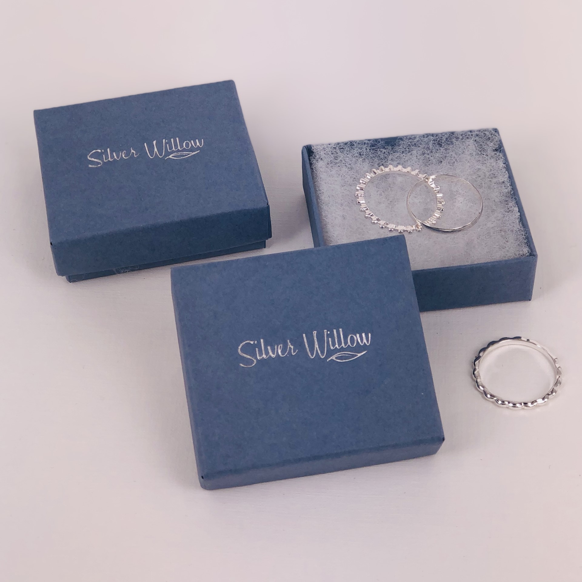 Silver Willow UK Made Cardboard Jewellery Boxes